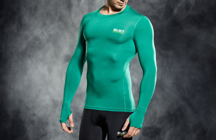 6902 T-SHIRT DE COMPRESSION MANCHES LONGUES - verd